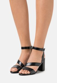 Simply Be - WIDE FIT BRITTANY - Sandals - black - 0