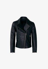 Massimo Dutti - NAPPA - Leather jacket - black - 5