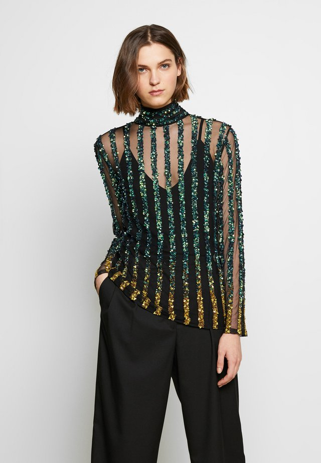 CETO TOP - Blusa - green / gold