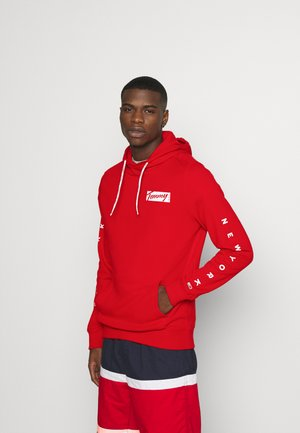 ESSENTIAL GRAPHIC HOODIE - Hoodie - red