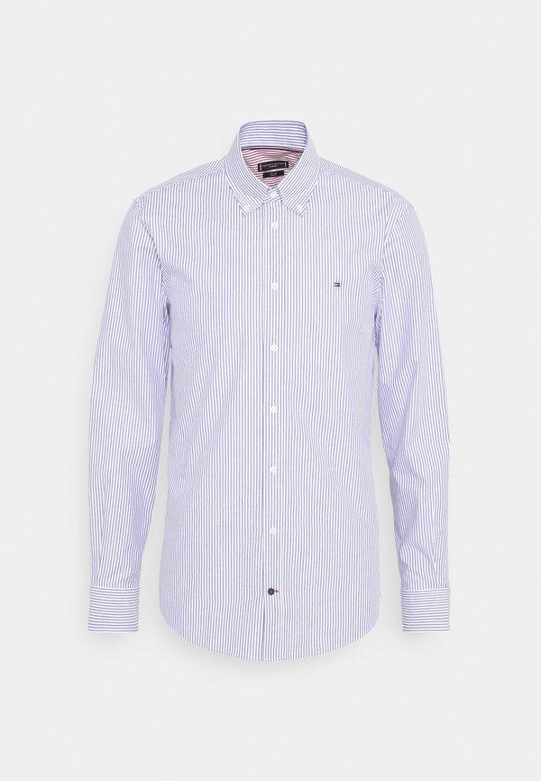 Tommy Hilfiger Tailored POPLIN WIDE STRIPE SLIM FIT - Koszula - navy/white/granatowy Odzież Męska CHFD