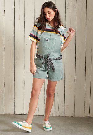 Dungarees - fossil green
