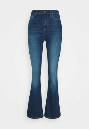 DION  - Flared Jeans - dark-blue denim