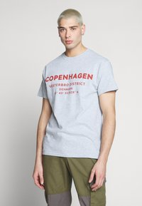 New Look - COPENHAGEN PRINT TEE - Print T-shirt - grey - 0