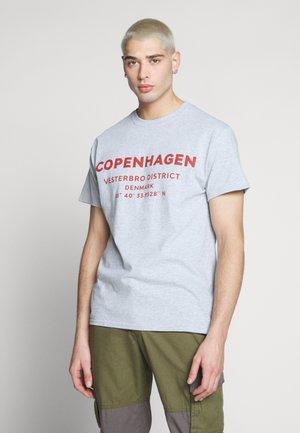 COPENHAGEN PRINT TEE - Print T-shirt - grey