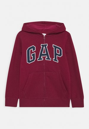 BOYS LOGO - Zip-up hoodie - red delicious