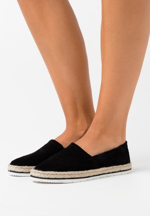 LEATHER - Espadrilles - black