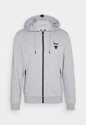 HOODY JACKET - Mikina na zip - dark grey melange