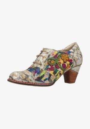 Lace-up heels - beige