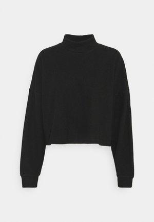 BRINA BRUSHED MOCK NECK - Sweatshirt - black