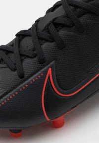 Nike Performance - MERCURIAL JR VAPOR 13 ACADEMY FG/MG UNISEX - Moulded stud football boots - black/dark smoke grey - 5