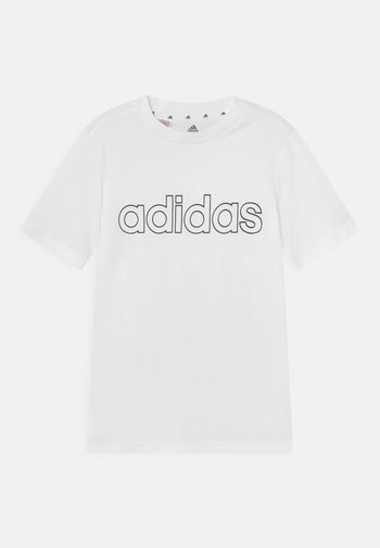 UNISEX - Print T-shirt - white/black
