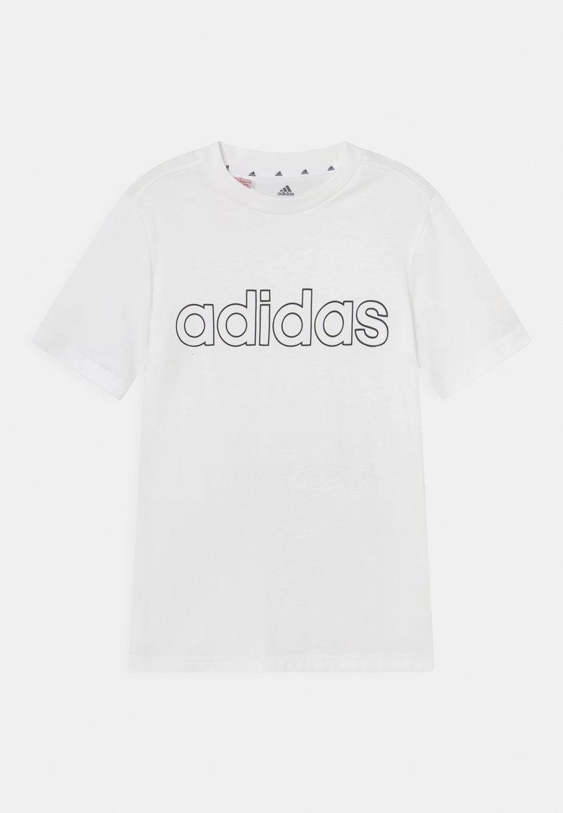 adidas Performance - UNISEX - T-shirts print - white/black