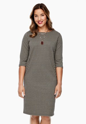 Day dress - black houndstooth
