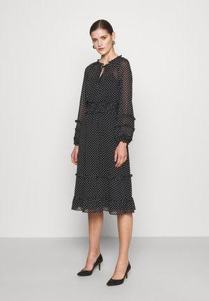 DESMOND LONG SLEEVE DAY DRESS - Day dress - black/colonial cream