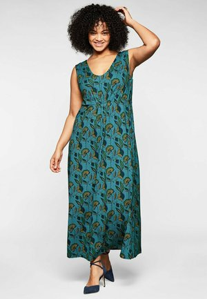 Maxi dress - grün bedruckt