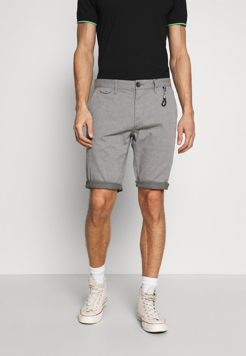 TOM TAILOR - STRUCTURE - Shorts - grey