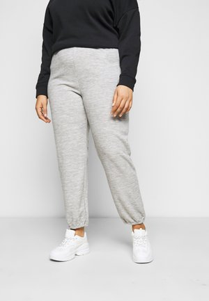 PCRELINO PANTS LOUNGE - Tracksuit bottoms - light grey melange