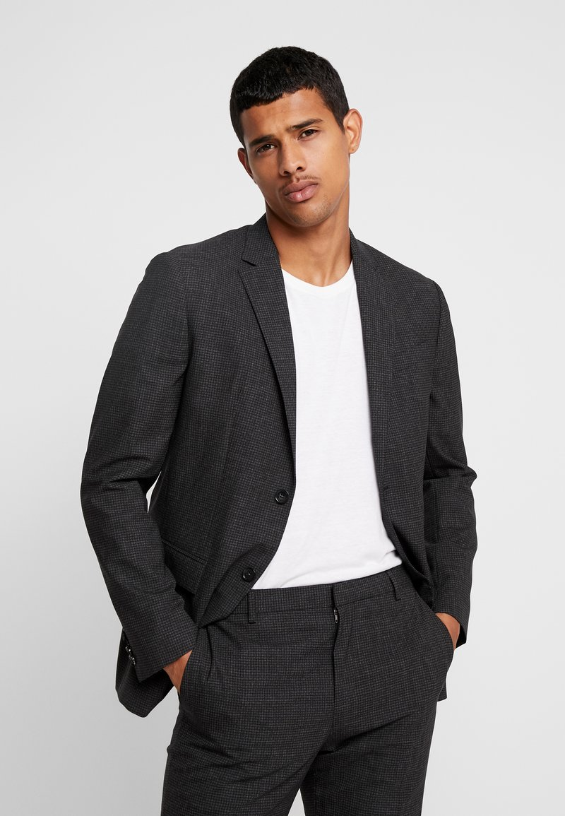 Calvin Klein Tailored - GRID CLASSIC SUIT - Suit - black