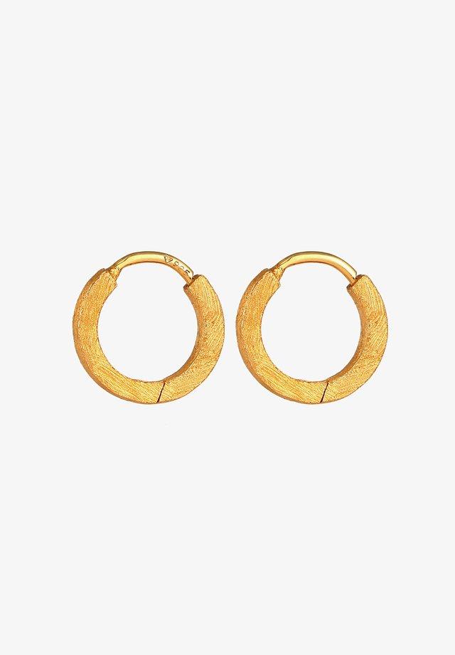 CREOLEN GEBÜRSTET - Boucles d'oreilles - gold