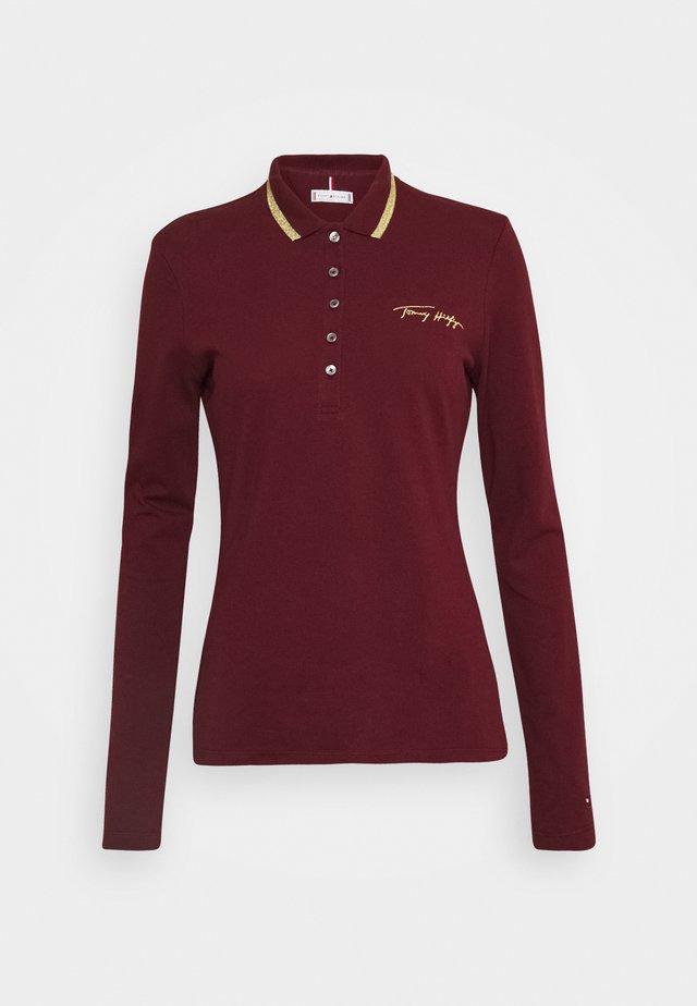 Polo shirt - deep rouge