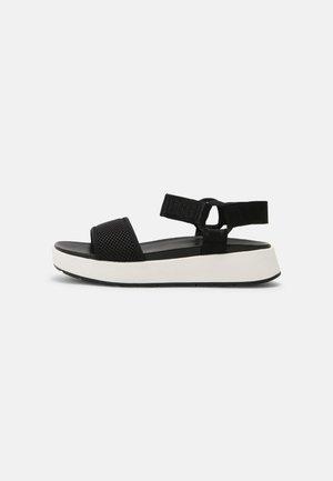 AISSA - Sandalen met plateauzool - black
