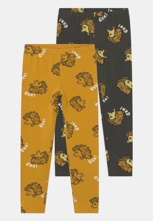 LION 2 PACK UNISEX - Leggings - Trousers - dark grey