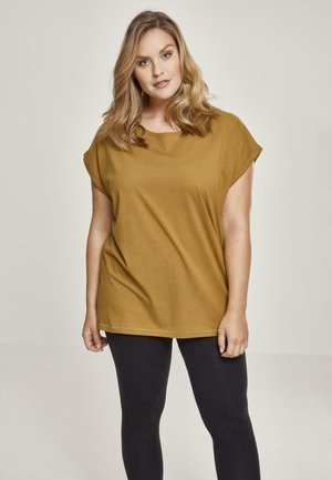 EXTENDED SHOULDER TEE - T-shirt basic - nut