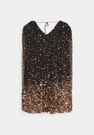 THEA DRESS - Sukienka koktajlowa - washed black/rose gold