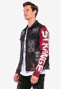 Cipo & Baxx - MIT NIETEN - Denim jacket - black - 3
