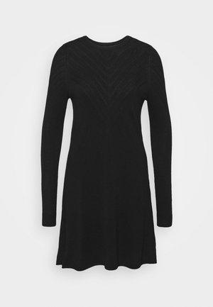 ONLSELINA DRESS - Vestido de punto - black