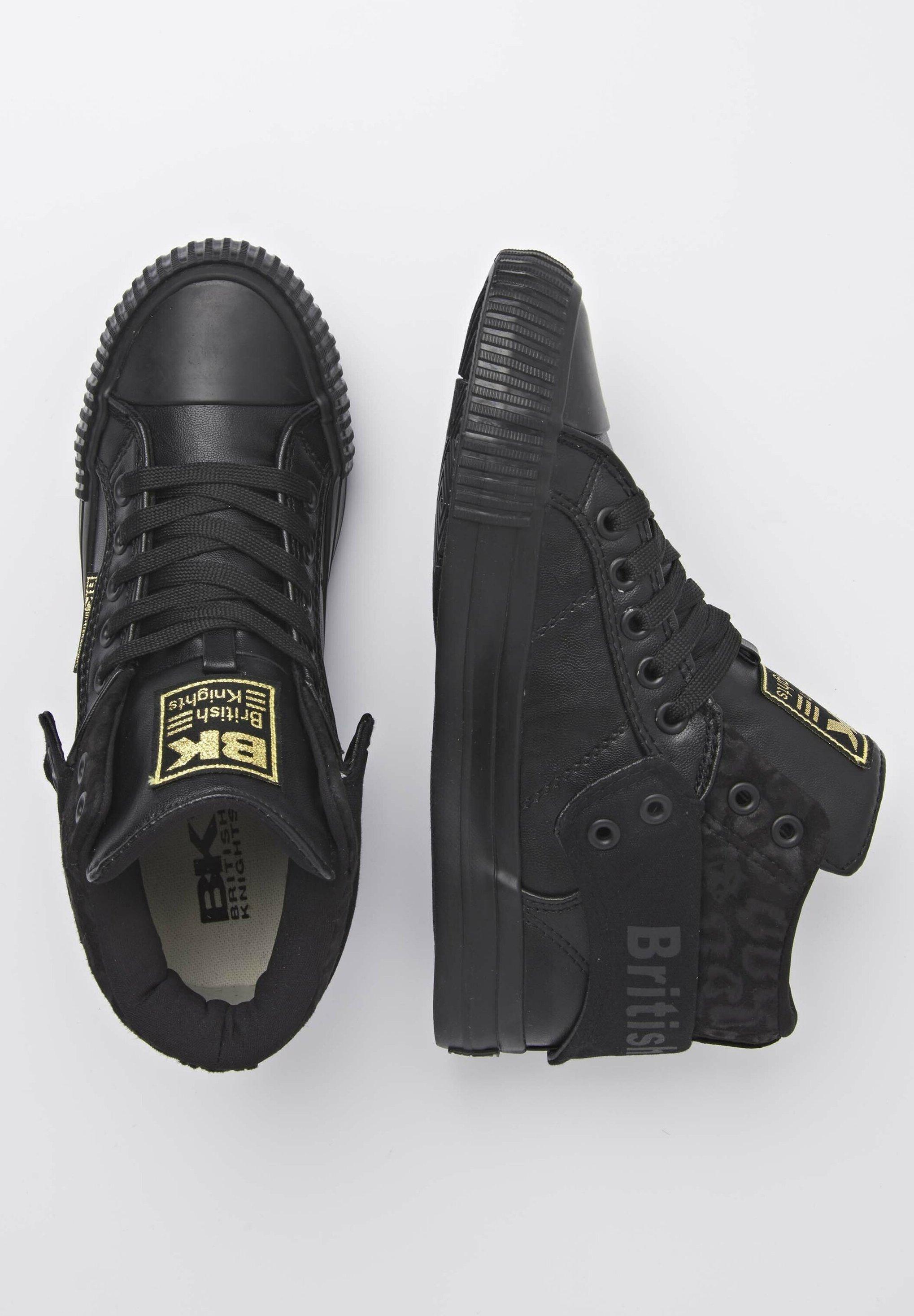 British Knights SNEAKER ROCO Sneaker high black/black leopard/black/black denim