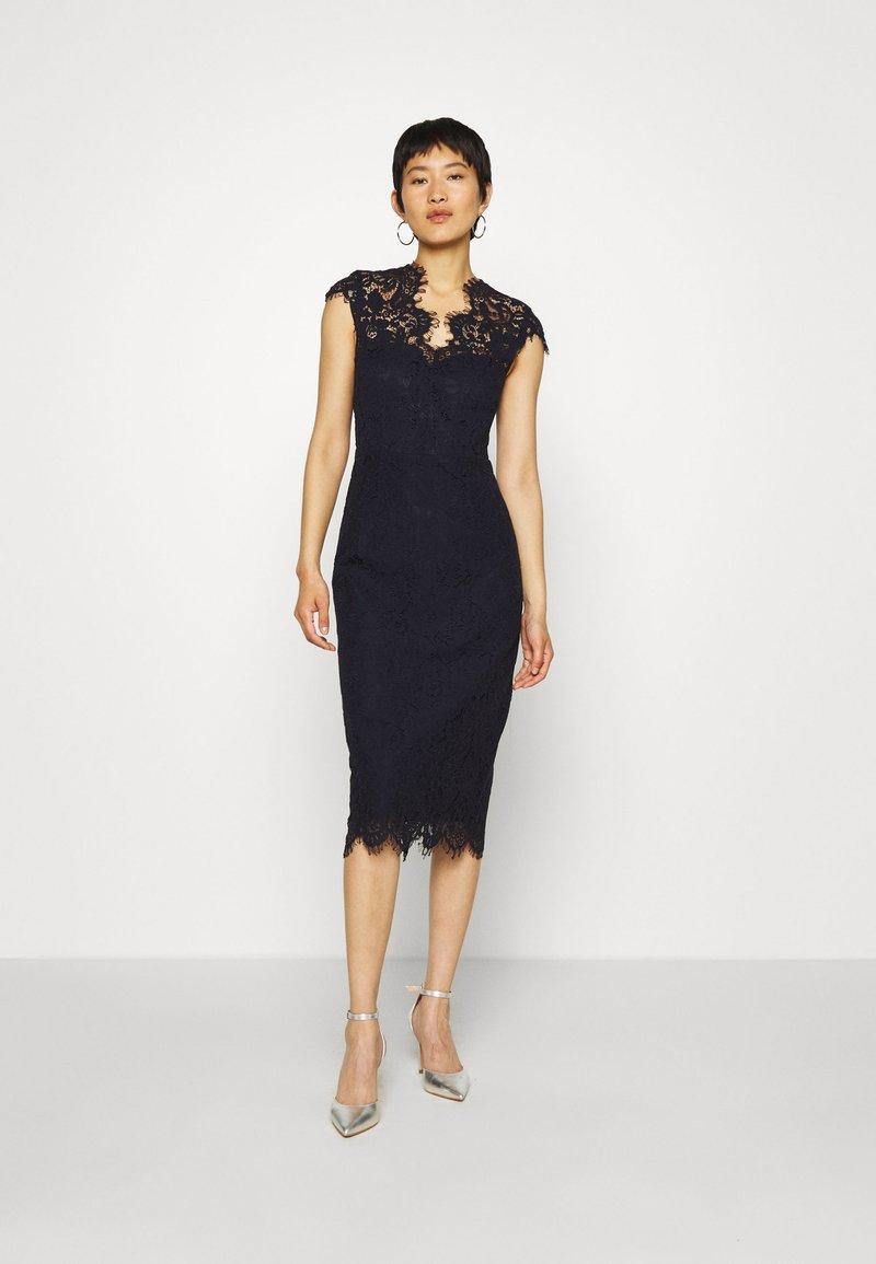 IVY & OAK - SHIFT DRESS MIDI - Cocktail dress / Party dress - navy blue