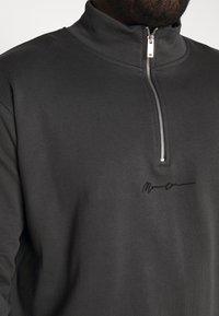 Mennace - ESSENTIAL SIG ZIP - Sweatshirt - charcoal - 4