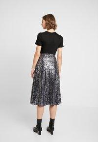 ONLY - ONLVIVA SKIRT - A-line skirt - black/silver - 2