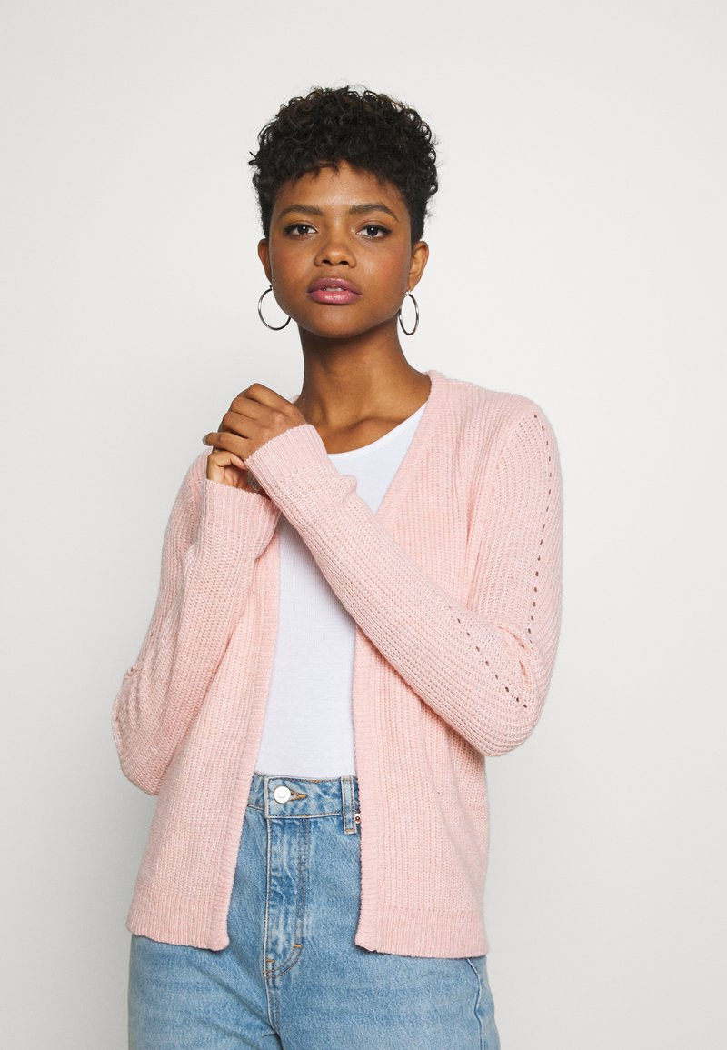 Vila - VISURIL BELT  - Cardigan - misty rose melange