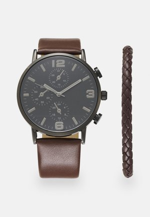 SET - Uhr - brown