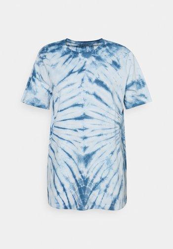 ONLLEA TIE DYE - Print T-shirt - white/blue