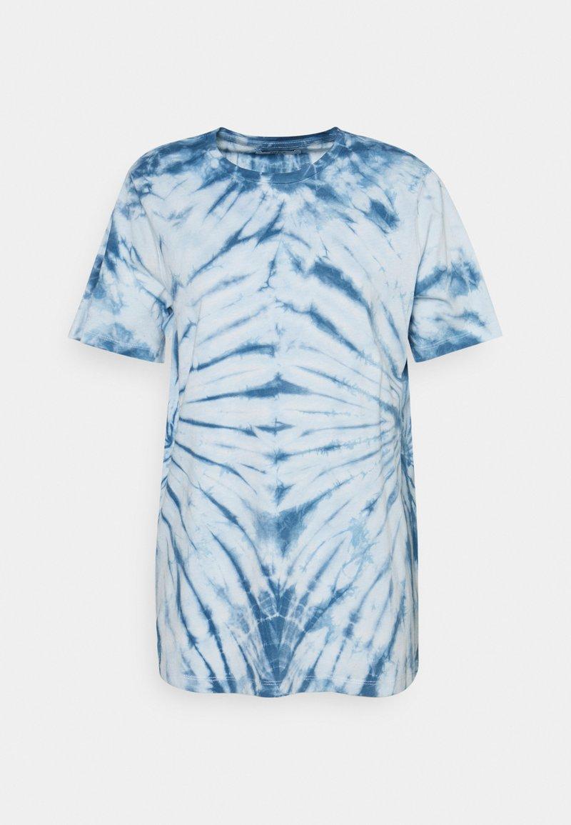 ONLY - ONLLEA TIE DYE - Print T-shirt - white/blue