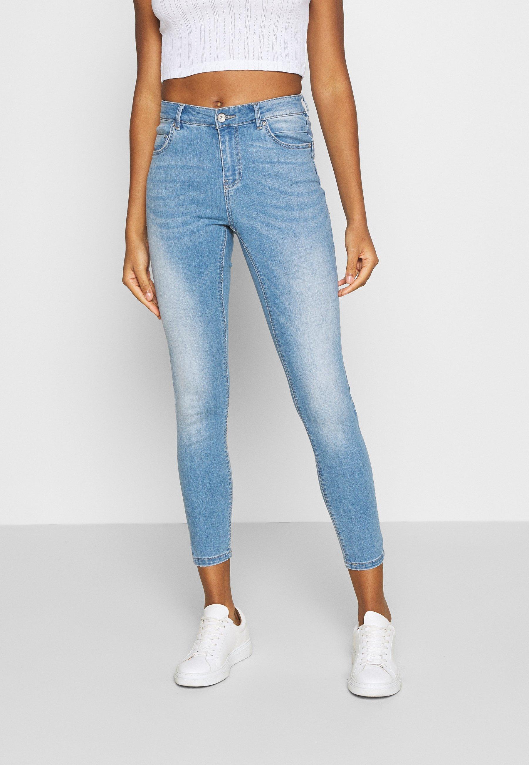 Women ONLANTA LIFE REG SK ANK PUSHUP   - Jeans Skinny Fit - light blue
