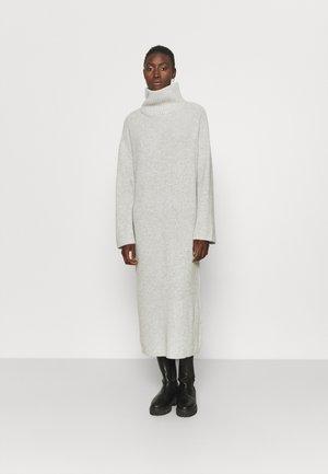 SLFELINA HIGHNECK DRESS - Jumper dress - light grey melange