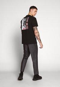 New Look - STRIPE PULL ON - Spodnie materiałowe - mid grey - 2