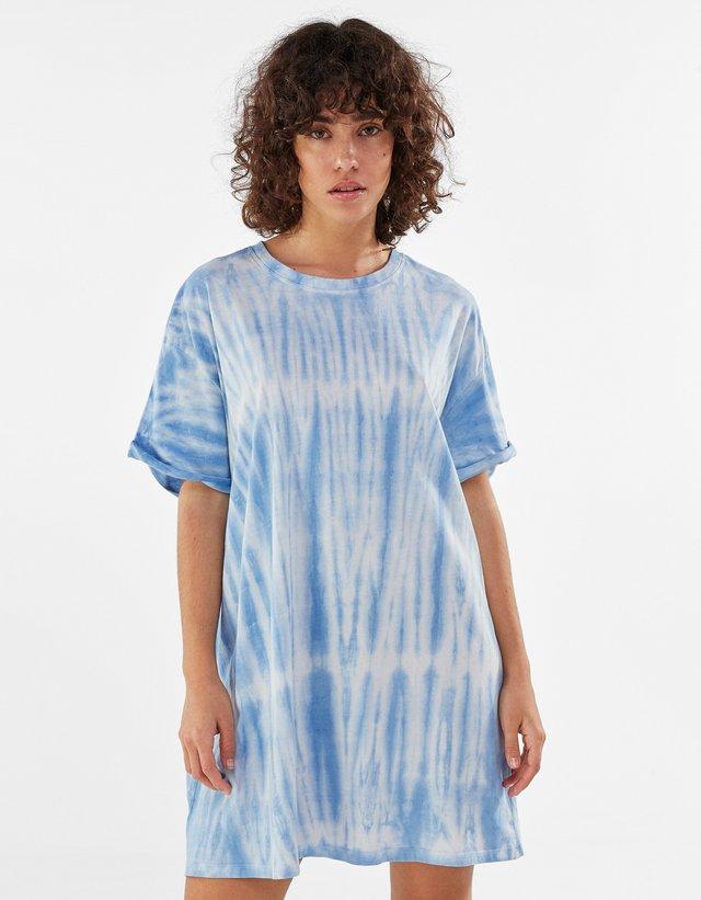 Robe en jersey - turquoise