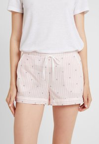 Palmers - LITTLE STRIPE SHORTS - Pyjama bottoms - rose/weiss - 1
