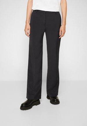STRAIGHT LEG TROUSER - Spodnie materiałowe - black