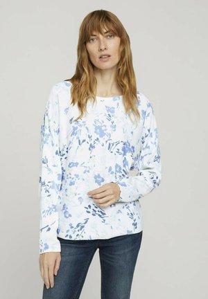 Long sleeved top - offwhite big flower design