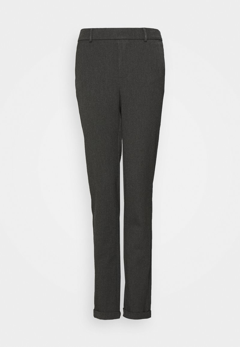 Vero Moda Tall - VMMAYA LOOSE SOLID PANT - Trousers - dark grey melange