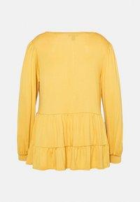 New Look Curves - TIER PEPLUM - Long sleeved top - dark yellow - 7