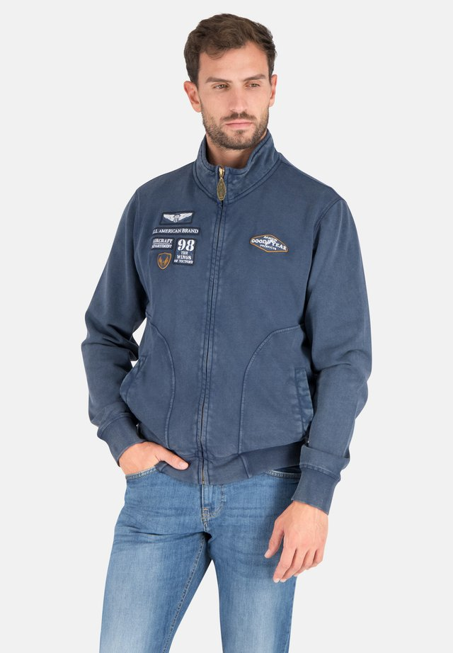 Zip-up hoodie - real navy