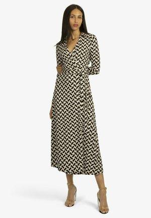 Jersey dress - schwarz/beige